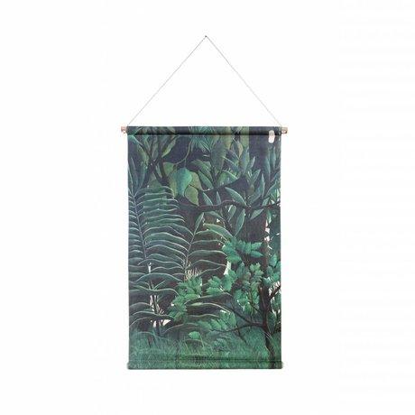 HK-living Schoolplaat Forest geprint multicolor katoen hout 85x60x2,5cm