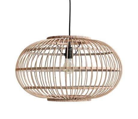 HK-living Hanglamp bruin bamboe 47,5x47,5x28,5cm