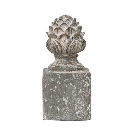 HK-living Beeld Baroque met antiek look grijs aardewerk 12x12x26cm
