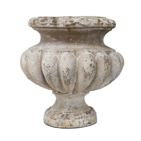 HK-living Pot met antiek look grijs aardewerk 38x38x41cm