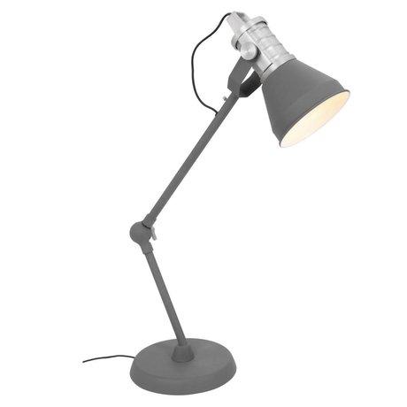Anne Lighting Tafellamp Brusk antraciet grijs metaal ø16x30-85cm