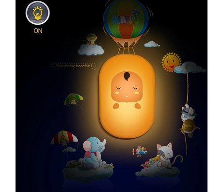 Wandlamp Yellow Doll multicolor pvc sticker 26x24x7cm