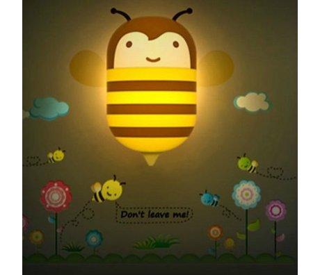 Wandlamp Honey Bee multicolor pvc sticker 25x25cm