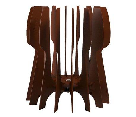 JokJor Vuurkorf Flint bruin corten staal 50x45cm