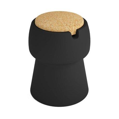 JokJor Kruk Champ zwart bruin kunststof kurk Ø35x45cm