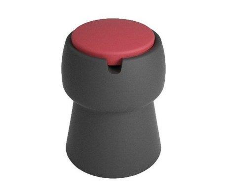 JokJor Kruk Champ zwart rood kunststof Ø35x45cm
