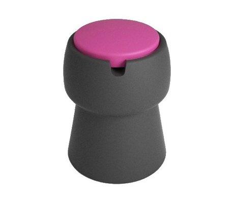 JokJor Kruk Champ zwart roze kunststof Ø35x45cm