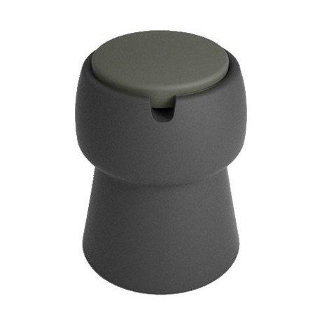 JokJor Kruk Champ zwart grijs kunststof Ø35x45cm