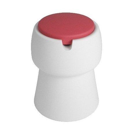 JokJor Kruk Champ wit rood kunststof Ø35x45cm