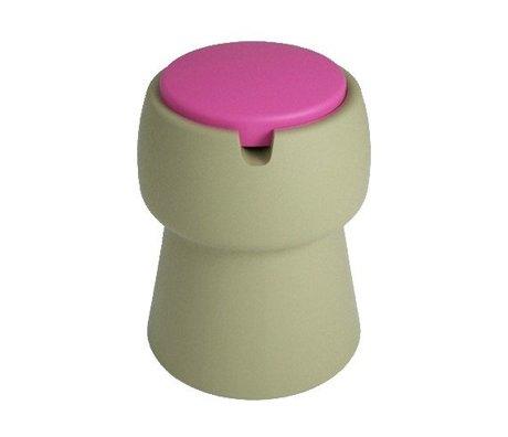 JokJor Kruk Champ groen roze kunststof Ø35x45cm