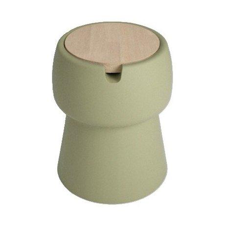 JokJor Kruk Champ groen bruin kunststof eikenhout Ø35x45cm