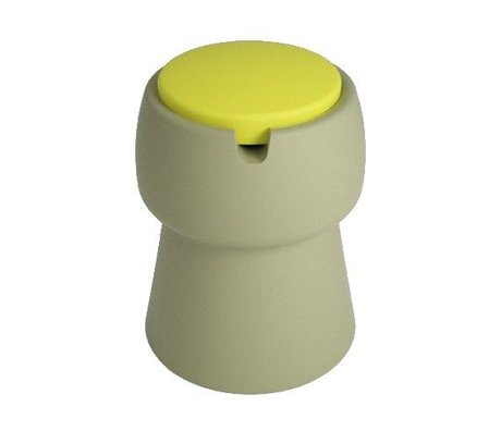 JokJor Kruk Champ groen geel kunststof Ø35x45cm