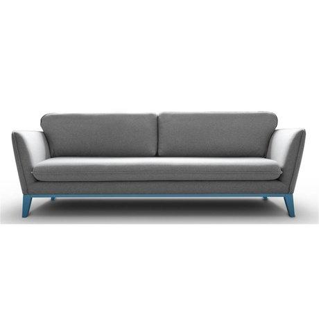 I-Sofa Bank Louka licht grijs textiel metaal 206x90x90cm