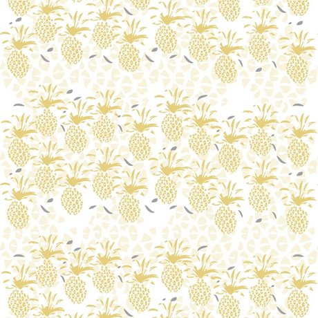 Roomblush Behang Pineapple geel papier 1140x50cm