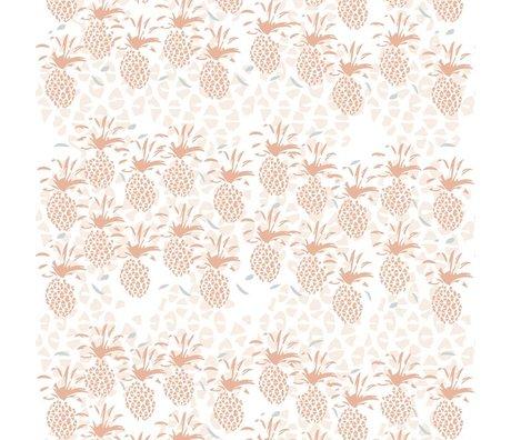 Roomblush Behang Pineapple roze papier 1140x50cm