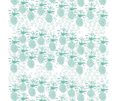 Roomblush Behang Pineapple groen papier 1140x50cm