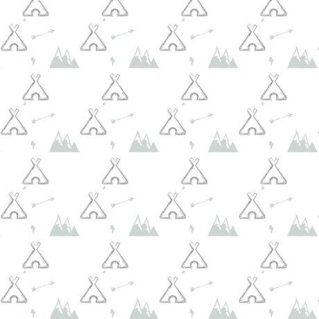 Roomblush Behang Tipi grijs papier 1140x50cm
