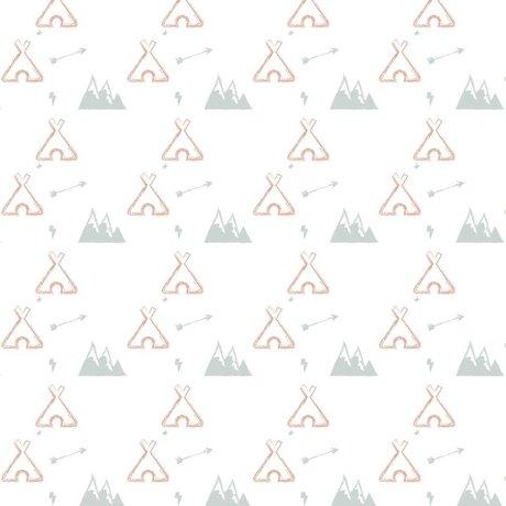 Roomblush Behang Tipi roze papier 1140x50cm