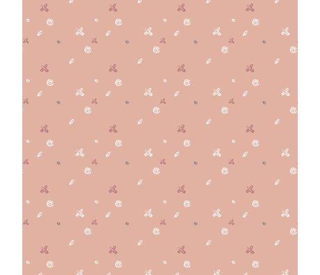Roomblush Behang Buttons roze papier 1140x50cm