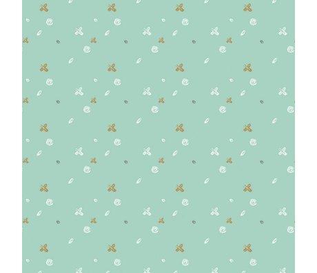 Roomblush Behang Buttons groen papier 1140x50cm
