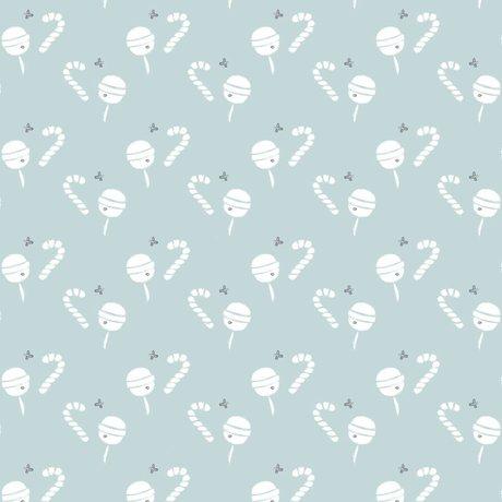 Roomblush Behang Lollypop blauw papier 1140x50cm