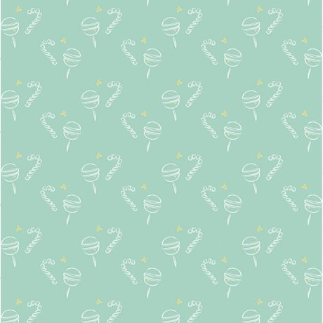 Roomblush Behang Lollypop groen papier 1140x50cm