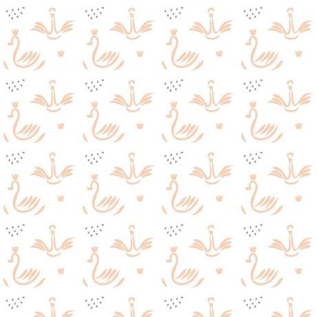 Roomblush Behang Swans roze papier 1140x50cm