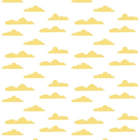 Roomblush Behang Clouds geel papier 1140x50cm