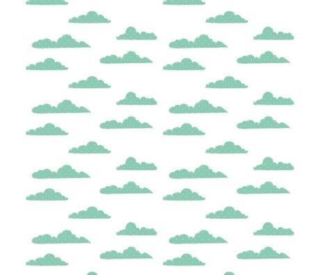 Roomblush Behang Clouds groen papier 1140x50cm