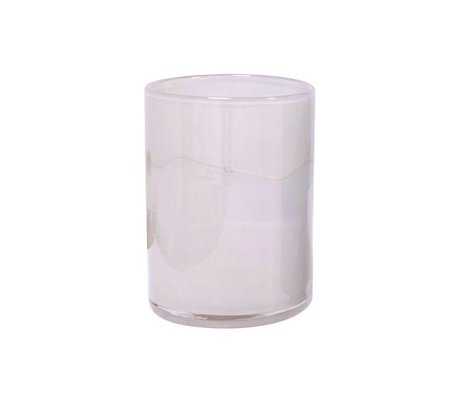 HK-living Vaas handgeblazen roze glas 12x12x17cm