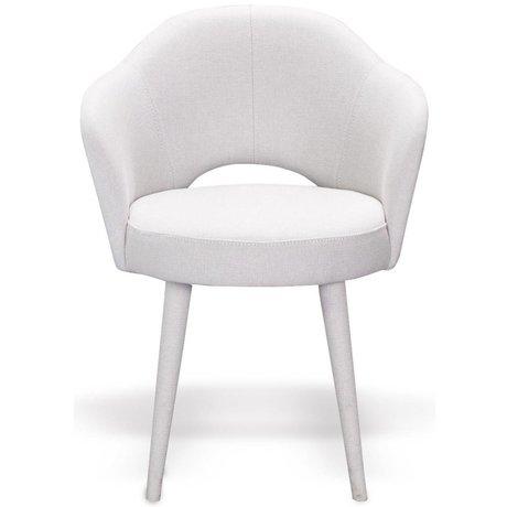I-Sofa Fauteuil Iza crème wit textiel hout 62x58x75cm