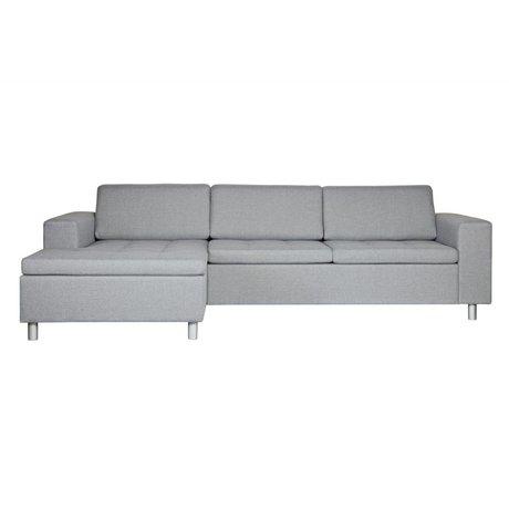 BePureHome Hoekbank Tango links grijs textiel 61,5x287x154cm