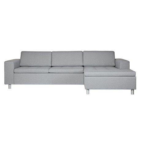 BePureHome Hoekbank Tango rechts grijs textiel 61,5x287x154cm