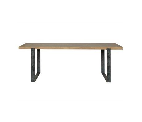 BePureHome Eettafel Jamie bruin eiken hout metaal 180x90cm