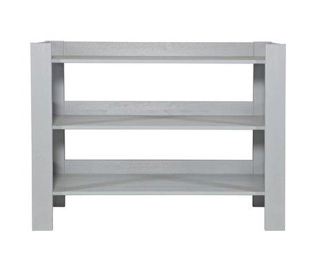 BePureHome Sidetable Jamie beton grijs grenen hout 90x120x50cm