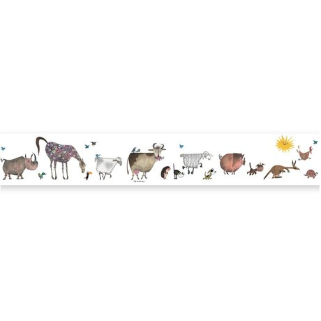 KEK Amsterdam Behangrand Fiep Westendorp Animal Parade multicolor 16x500cm