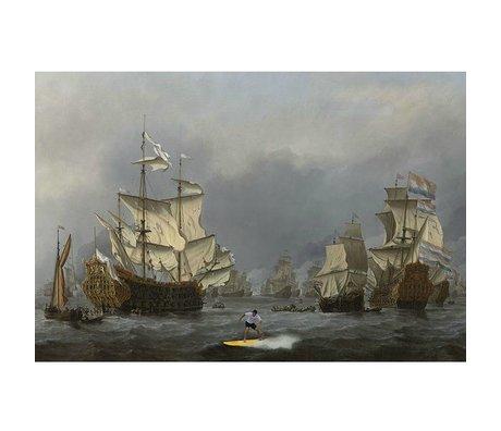 Arty Shock Schilderij Willem van de Velde Zeeslag L multicolor plexiglas 100x150cm