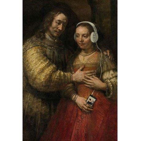 Arty Shock Schilderij Joodse Bruidje Rembrandt XL multicolor plexiglas 150x225cm