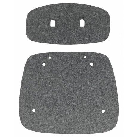 Tristan Frencken Zitpad Bent Skin Lounge Anthracite grijs wolvilt 47,5x55x5cm