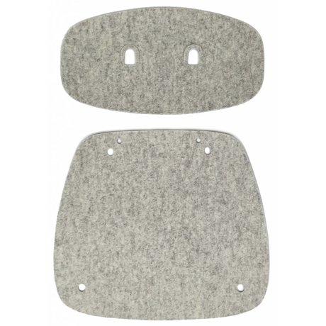 Tristan Frencken Zitpad Bent Skin Dining Marble grijs wolvilt 53x53x5cm