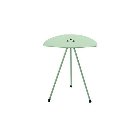 Tristan Frencken Bijzettafel Bent Table Mint groen aluminium 45x38x38cm