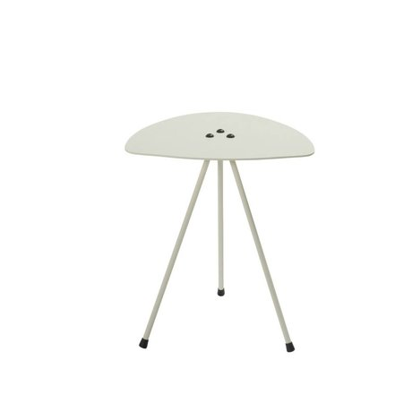 Tristan Frencken Bijzettafel Bent Table Milk wit aluminium 45x38x38cm