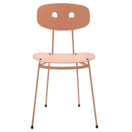 Tristan Frencken Eetkamerstoel Bent Dining Blush roze aluminium 45x38x84,5cm