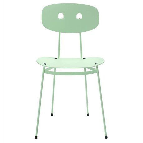 Tristan Frencken Eetkamerstoel Bent Dining Mint groen aluminium 45x38x84,5cm