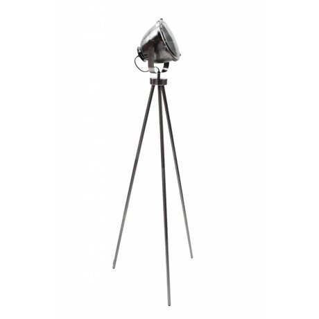 LEF collections Vloerlamp Tuk Tuk antiek zilver grijs metaal 34x23x150cm
