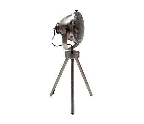 LEF collections Tafellamp Tuk Tuk antiek zilver grijs metaal 26x19x60cm