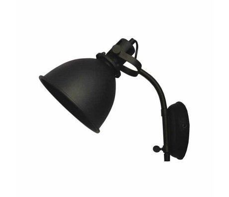 LEF collections Wandlamp Spot zwart metaal 17x30x41cm
