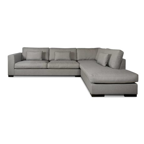 I-Sofa Hoekbank Harpo grijs textiel 300x225x80cm