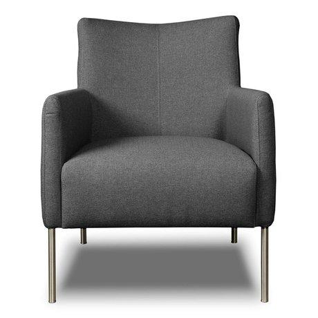I-Sofa Fauteuil Nora grijs textiel 77x67x79cm