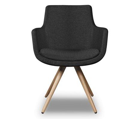 I-Sofa Eetkamerstoel Espen zwart textiel 59x59x83cm